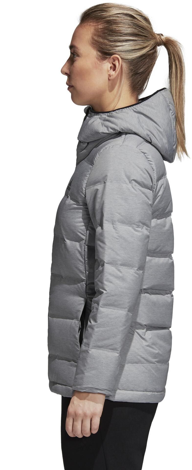 TERREX matte heather Women Hooded Helionic grey Down adidas Jacket dCexBrQoW